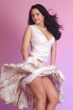 Muchacha en el vestido blanco Fotografía de archivo