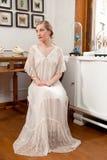 Muchacha en el vestido blanco Fotografía de archivo libre de regalías
