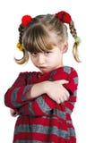 Muchacha en enojado rojo Fotos de archivo libres de regalías