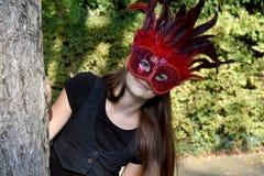 Muchacha en equipo del carnaval Foto de archivo libre de regalías