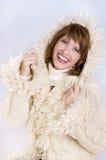 muchacha en estilo del invierno Imagen de archivo