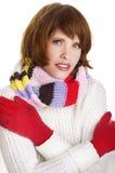 muchacha en estilo del invierno Fotografía de archivo