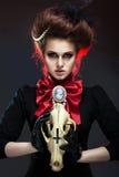 Muchacha en estilo gótico del arte Fotos de archivo libres de regalías