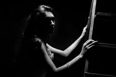 Muchacha en estudio Imagen de archivo