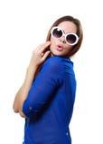 Muchacha en gafas de sol Foto de archivo libre de regalías