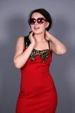 Muchacha en gafas de sol Imagen de archivo libre de regalías