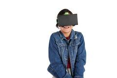 Muchacha en gafas de VR Fotografía de archivo libre de regalías