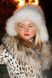 Muchacha en invierno Foto de archivo libre de regalías