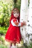 Muchacha en la alineada nacional rusa Fotografía de archivo libre de regalías