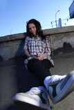 Muchacha en la calle Foto de archivo