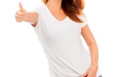 Muchacha en la camiseta blanca Foto de archivo libre de regalías