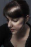 Muchacha en la contemplación Foto de archivo
