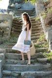 Muchacha en la escalera Imagen de archivo