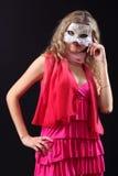 Muchacha en la máscara veneciana Fotos de archivo libres de regalías