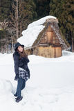 Muchacha en la nieve Imagen de archivo