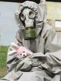 Muchacha en la radiación de la venda permitida Fotografía de archivo