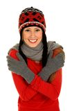 Muchacha en la ropa del invierno Fotos de archivo libres de regalías