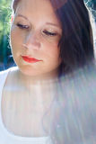 muchacha en luz Foto de archivo libre de regalías