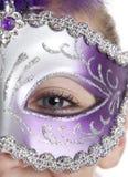 Muchacha en máscara Imagenes de archivo