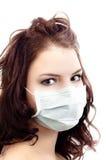 Muchacha en máscara médica imagen de archivo libre de regalías