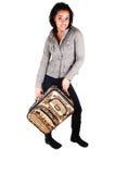 Muchacha en medias negras en un viaje. Imagen de archivo libre de regalías