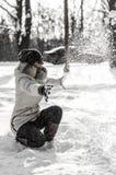 Muchacha en nieve Foto de archivo libre de regalías