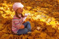 Muchacha en otoño foto de archivo libre de regalías