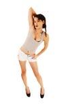 Muchacha en pantalones cortos. Imagen de archivo libre de regalías