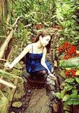 Muchacha en parque Fotos de archivo
