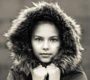 Muchacha en piel Fotografía de archivo libre de regalías