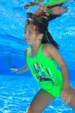 Muchacha en piscina Foto de archivo