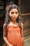 Muchacha en puntos en Bangladesh Foto de archivo