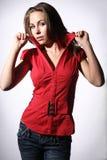 Muchacha en rojo Imagen de archivo