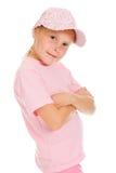 Muchacha en ropa de deportes rosada Foto de archivo libre de regalías