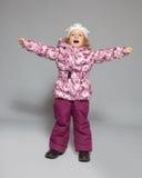 Muchacha en ropa del invierno Imagen de archivo libre de regalías