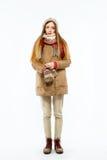 Muchacha en ropa del invierno Fotografía de archivo