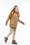 Muchacha en ropa del invierno Foto de archivo