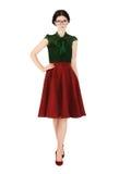 Muchacha en ropa elegante, pasada de moda Fotografía de archivo libre de regalías
