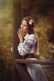 Muchacha en ropa nacional Fotos de archivo libres de regalías