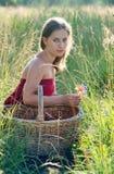 muchacha en ropa roja Imagen de archivo libre de regalías