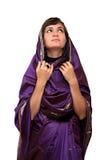 Muchacha en sari Fotos de archivo libres de regalías