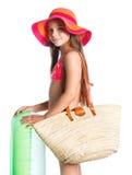 Muchacha en traje de baño Imagenes de archivo