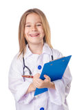 Muchacha en traje del doctor Fotos de archivo libres de regalías