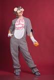 Muchacha en traje del ratón Imagenes de archivo