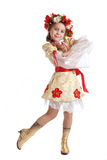 Muchacha en traje nacional Foto de archivo libre de regalías
