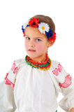 Muchacha en traje nacional ucraniano Imagenes de archivo