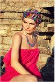 Muchacha en turbante Imagen de archivo