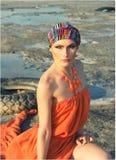Muchacha en turbante Fotos de archivo