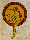 Muchacha en un caracol con el globo Fotografía de archivo libre de regalías