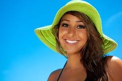 Muchacha en un sombrero Fotos de archivo